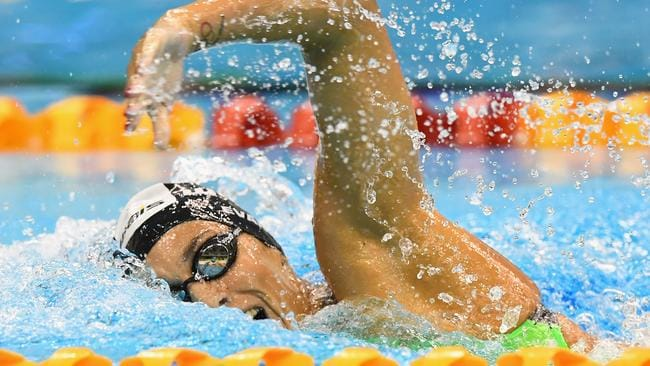 Blair Evans in the Women's 400 Metre Individual Medley during day one of the Australian Swimming Championships.