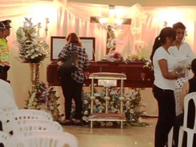One moment of the funeral of Catherine Cando.