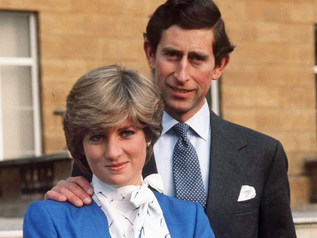 Lady Diana Spencer and Prince Charles pose for a photo following the announcement of their engagement in February 1981. Picture: Tim Graham/Getty Images