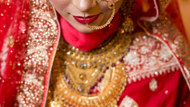 Indian bride on her wedding day. Image: Getty.