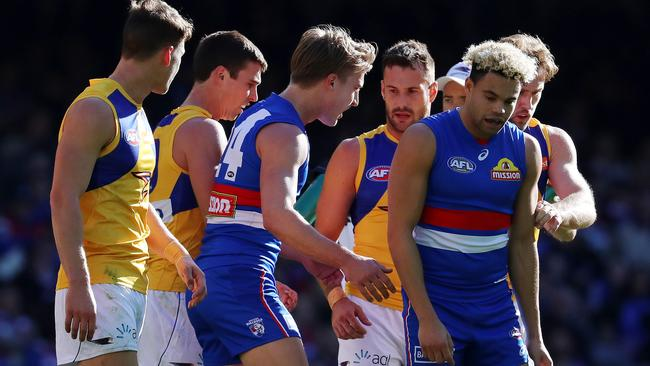 Jason Johannisen has copped plenty of attention this season. Picture: Michael Klein