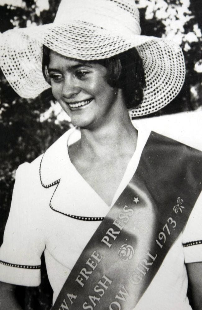 Bronwynne Richardson competes at the Miss Corowra Showgirl pageant in 1971.