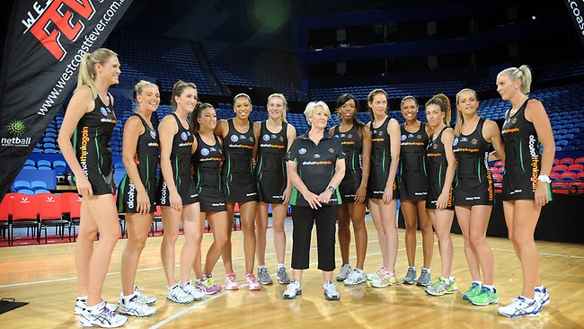 West Coast's team for this season with head coach Norma Plummer Picture: Richard Polden