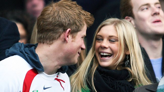 "Prince Harry and his ex girlfriend in 2008. The News of the World trial has heard that Davy ""blitzed"" him with phone calls and texts and ""drove him nuts."""