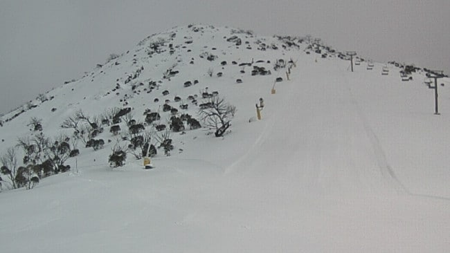And fall. And fall. And fall... until the slopes were ready for business. Pic: ski.com.au.
