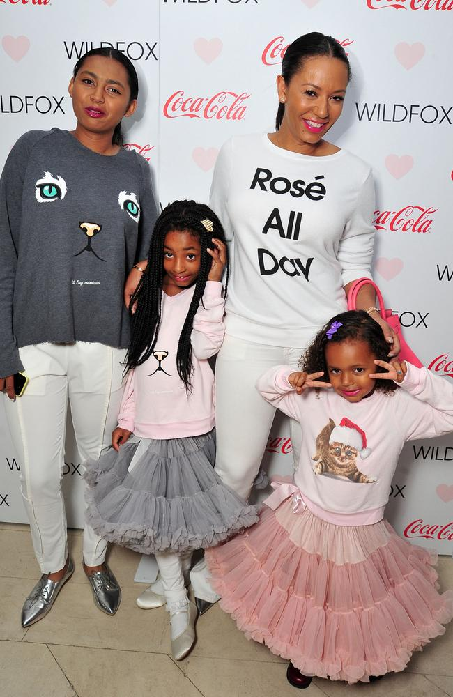 Mel B with her three daughters Phoenix, Angel and Madison in October, 2015. Picture: Jerod Harris