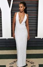 Kerry Washington arrives at the Vanity Fair Oscar Party on Sunday, Feb. 28, 2016, in Beverly Hills, Calif. (Photo by Evan Agostini/Invision/AP)