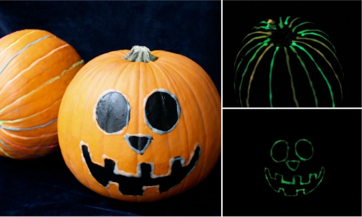 No-carve glow-in-the-dark Jack-o'-lantern