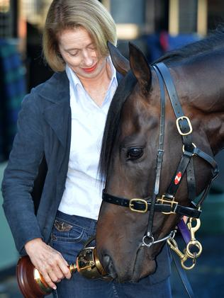 Gai Waterhouse and Melbourne Cup winner Fiorente. Picture: Jay Town