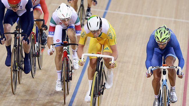 Glenn O'Shea was ultra consistent yet again during the Elimination race of the Omnium. Picture: Adam Head