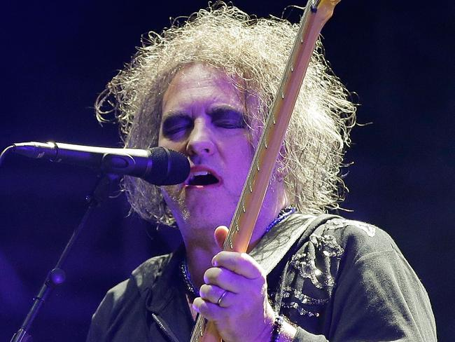 Robert Smith of The Cure was the focus of the gig. Picture: Getty