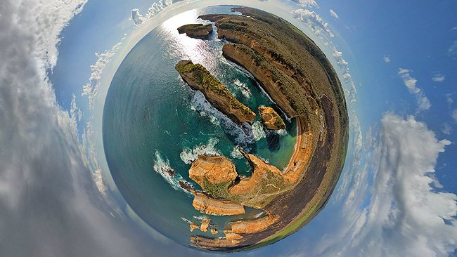 Amazing panoramas: The Twelve Apostles, Great Ocean Road, Victoria, Australia. Picture: AirPano.com