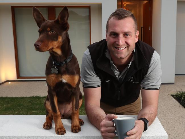 19.7.2017.New CoreLogic figures reveal Adelaide best suburbs for capital growth.Dave Rosa with his kelpie 'Indie' at his Pasadena home.  pic tait schmaal.