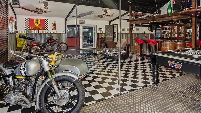 Motorcycle's take pride of place in Man's Land. Picture: Supplied.