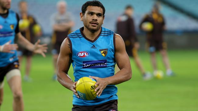 Cyril Rioli is a key in for Hawthorn against West Coast. Picture: DAMIAN SHAW