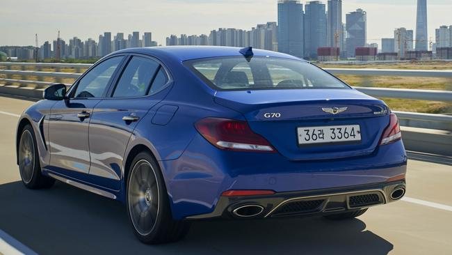 The G70 we tested was tuned for Korean roads. Pic: Supplied.