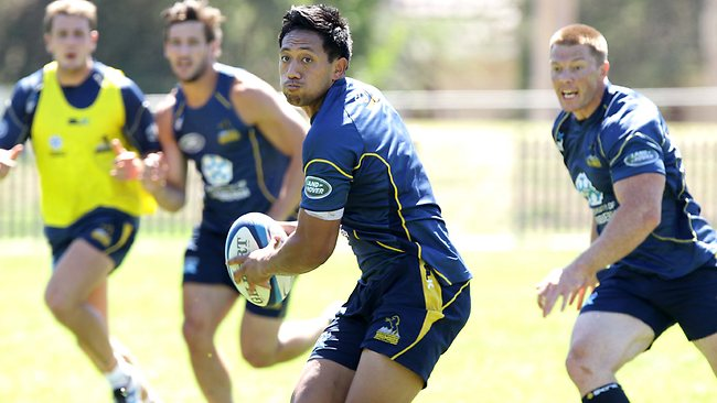 Brumbies coach Jake White does not see Wallaby candidate Christian Lealiifano, above, as a number 10 in his backline.. Picture: Kym Smith