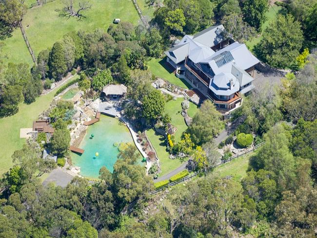 This property at Terrey Hills has a helicopter hangar and a drive in cinema on site.