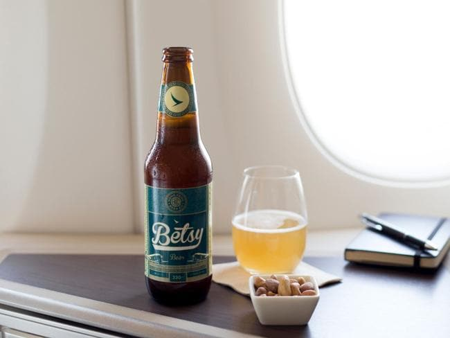 Betsy Beer, by Cathay Pacific, is designed for consumption at 35,000 feet. Picture: Cathay Pacific