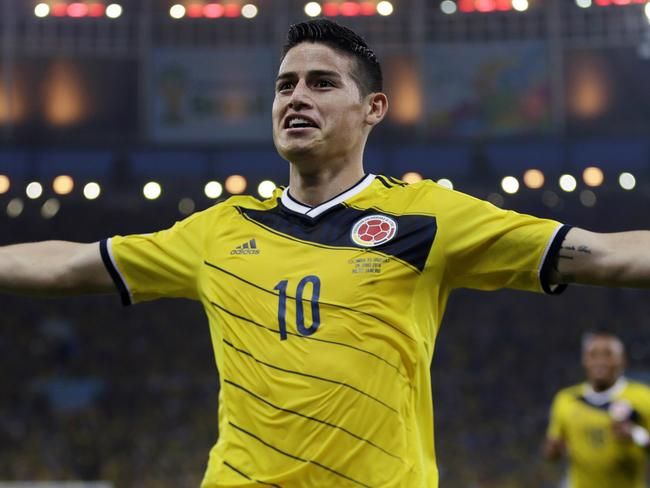 Colombia's James Rodriguez has been the biggest star of the World Cup so far.