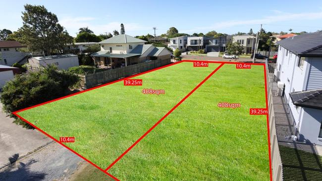"<a href=""https://www.realestate.com.au/property-residential+land-qld-boondall-202002874"" title=""www.realestate.com.au"">122 Roscommon Road, Boondall</a>, was split in two with each block on the market for over $350,000."