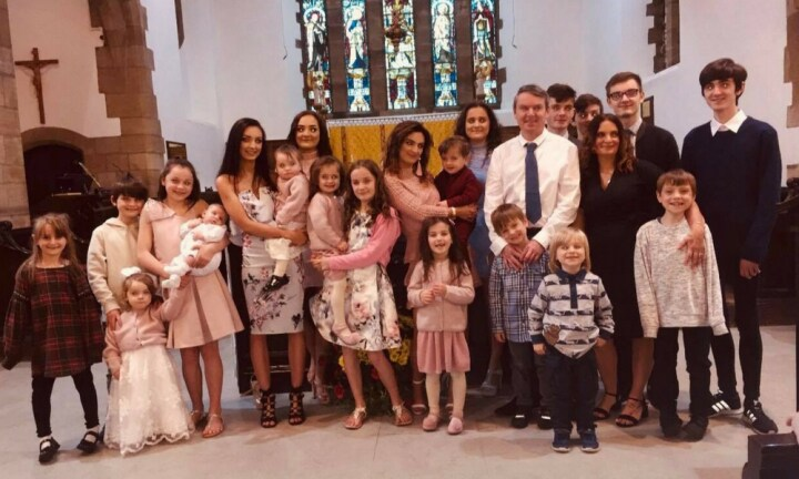 Britain's largest family announce they are expecting their 21st child
