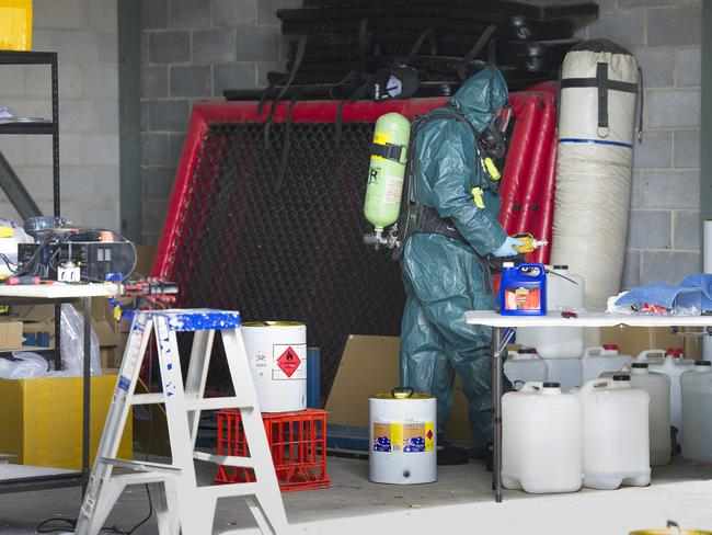 Drug Squad's chemical operations team dismantled the alleged lab.
