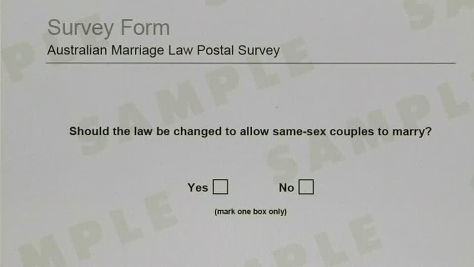 Image result for same sex marriage postal vote