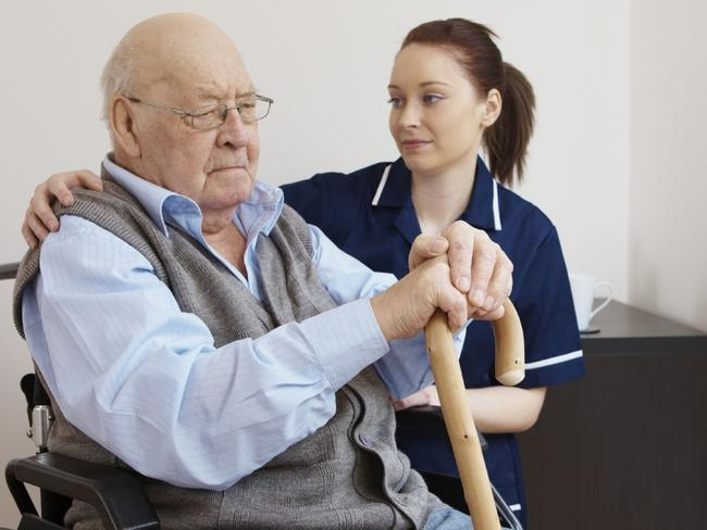 Care ... Compassion and empathy will be essential in an economy where geriatrics jobs prevail. Picture: Supplied.