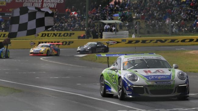 Campbell took victory in one of the Carrera Cup support races at last year's Bathurst 1000.