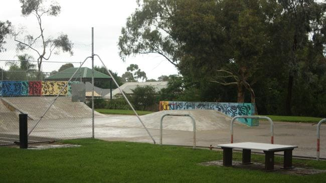 The skate park at George Whittle Reserve on Churchill Rd, Prospect.