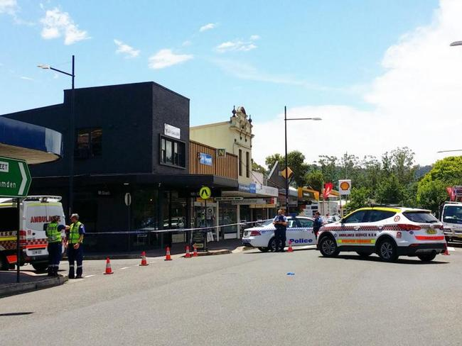 Police are pictured on scene at a shooting in Picton. Picture: HiJak'd / Twitter
