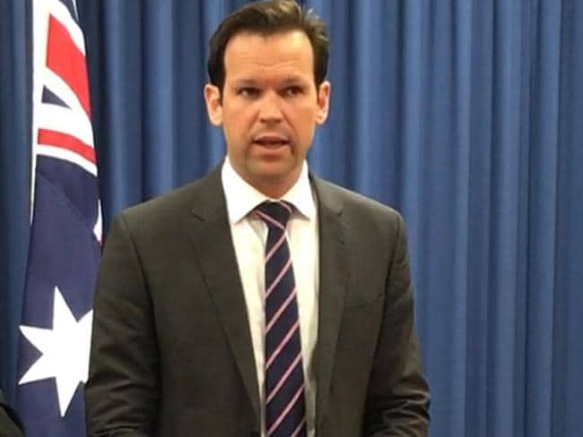 Federal Resources Minister Matt Canavan quit cabinet yesterday amid doubts about his citizenship. Picture: Sonia Kohlbacher/AAP