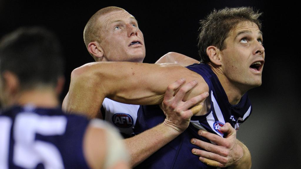 Crows midfielders aim to shark Fremantle giant Aaron ...