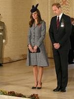 Catherine, Duchess of Cambridge and Prince William, Duke of Cambridge lay a wreath on ANZAC Day at the Australian War Memorial. Picture: Getty