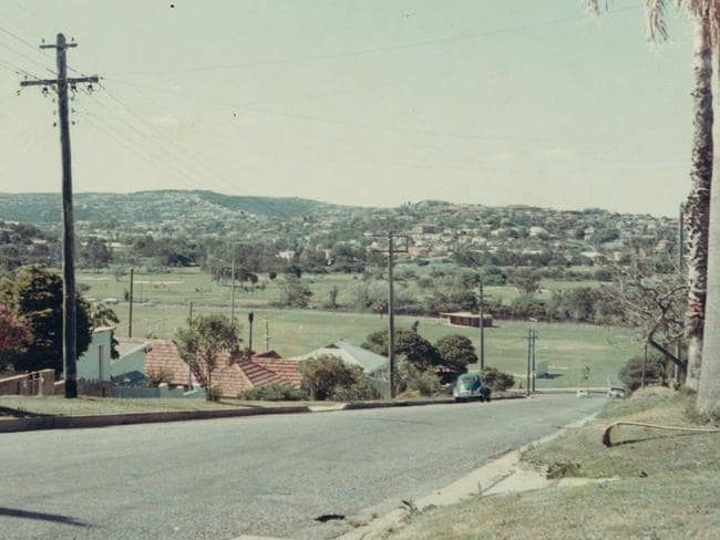 Looking over Graham Reserve from outside the house in the sixties.