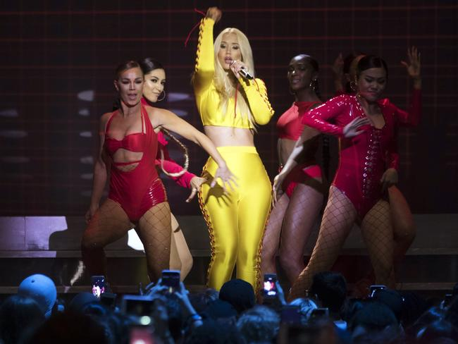 Iggy on stage in Toronto. Picture: Chris Young/The Canadian Press via AP