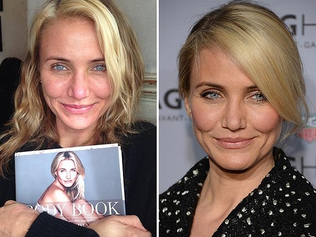 Beauty tips...Diaz posted a make-up free photo to Instagram to promote her bestseller The Body Book.