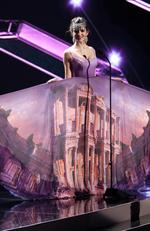Melisa Uzun, Miss Turkey 2015 debuts her National Costume on stage at the 2015 Miss Universe Pagaent on December 16, 2015 in Las Vegas. Picture: HO/The Miss Universe Organization