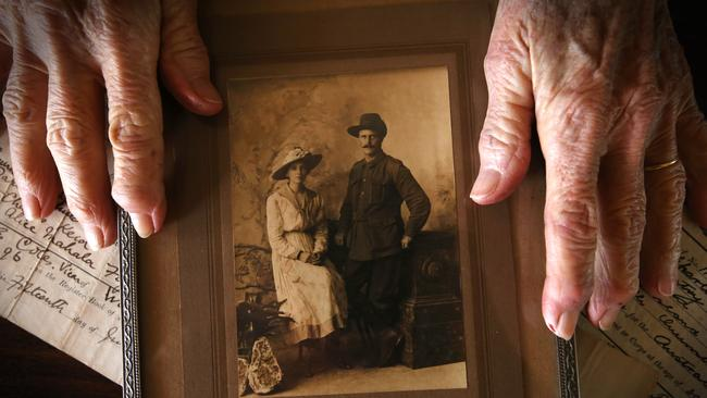 Henry and Laura Keid married 1917 at Wilsford, England. Pic Jamie Hanson