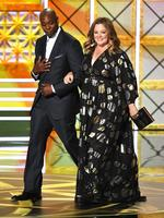 Dave Chappelle and Melissa McCarthy walk onstage during the 69th Annual Primetime Emmy Awards at Microsoft Theater on September 17, 2017 in Los Angeles, California. (Picture: Getty
