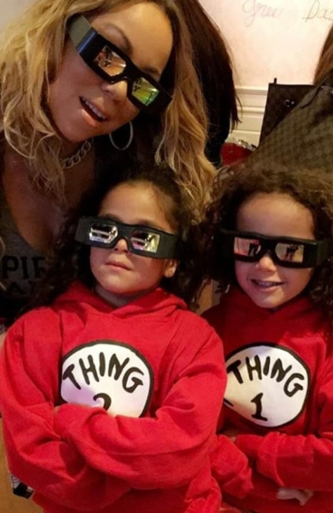 Carey with her twins Moroccan and Monroe. Picture: Instagram / @mariahcarey.
