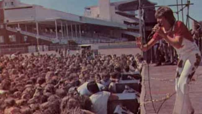 David Cassidy performing at Randwick Racecourse in 1974. Supplied: davidcassidy.com.