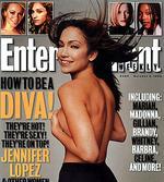 <p>Actor Jennifer Lopez on cover of 09/10/98 edition of Entertainment Weekly magazine.</p>