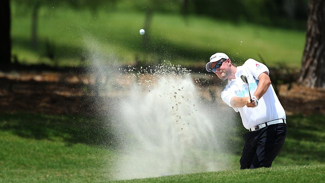 Marc Leishman plays a shot on the second hole during round three of The Players Championship in Ponte Vedra Beach, Florida. Picture: Andy Lyons