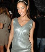 <p>Slinky in silver at some celeb function</p>