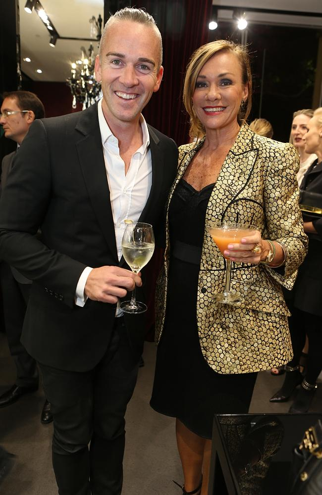 Dolce and Gabbana store opening. Grant Smillee and Ann Peacock. Picture: Julie Kiriacoudis