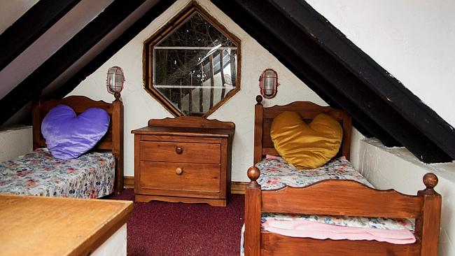 The bedroom in the decadent children's playhouse. Picture: S...