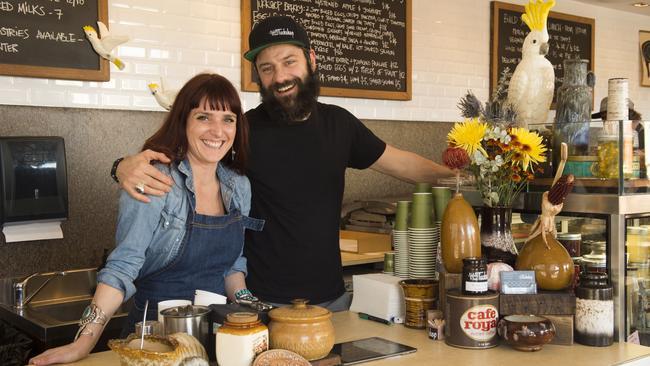 Corinna Kovner and Felix Clark at The Tuckshop in Bondi Junction.