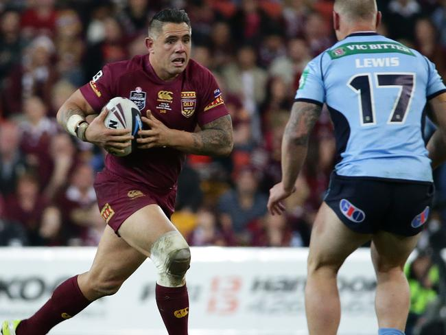 Corey Parker. Queensland vs New South Wales for game 3 of the State of Origin Series at Suncorp Stadium in Brisbane. Pic Peter Wallis